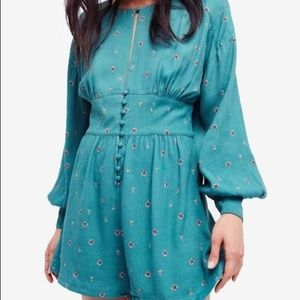 NWT Free People Love Grows Long Sleeve Romper